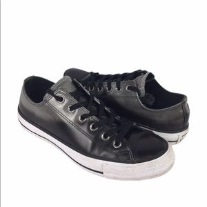 Converse | sneakers ombré black gray leather 7.5